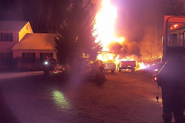 Orange County Fire Destroys Multiple Items